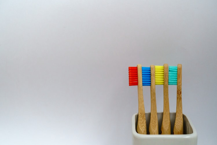 Preventive dental care : Image showing toothbrushes
